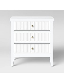 Wrentham Beadboard Farmhouse 3 Drawer Nightstand   Threshold™ by Shop Collections