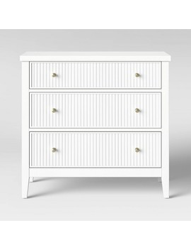 Wrentham Beadboard Farmhouse 3 Drawer Dresser White   Threshold™ by Shop This Collection
