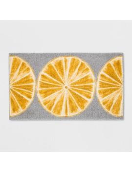 "34""X20"" Slices Kitchen Rug Gray/Yellow   Threshold™ by Threshold"