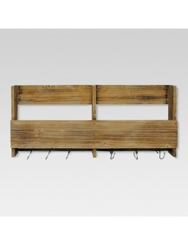 Wooden Shelf With S Hooks   Threshold™ by Shop Collections