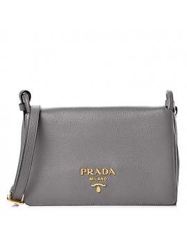 Prada Vitello Daino Crossbody Flap Marmo by Prada
