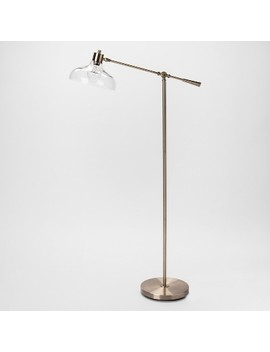 Crosby Glass Shade Floor Lamp Brass   Threshold™ by Shop Collections