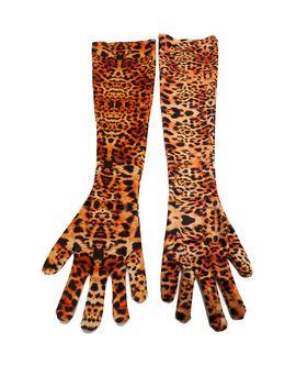 Leopard Velvet Long Gloves by Prettylittlething