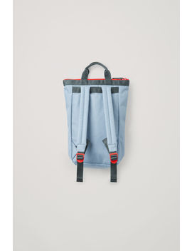 Colour Block Tote Backpack by Cos