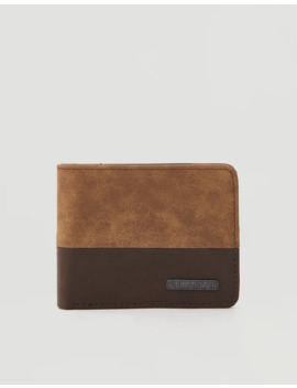 Two Tone Brown Wallet by Pull & Bear