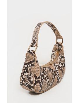 Natural Snake Mini Shoulder Bag by Prettylittlething