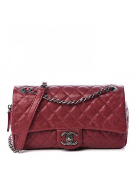 Chanel Iridescent Caviar Quilted Medium Chic Flap Red by Chanel
