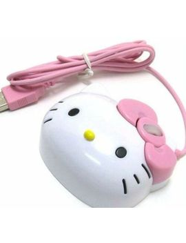 3 D Hello Kitty Wired Mouse Usb 2.0 Pro Gaming Optical Mice For Computer Pc Pink by Unbranded/Generic