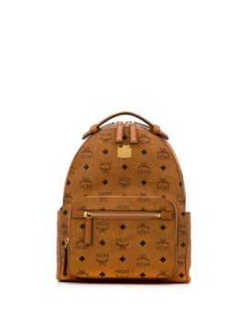 Monogram Logo Backpack by Mcm