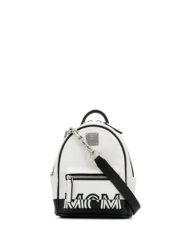 Printed Logo Cross Body Bag by Mcm
