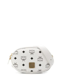 White Logo Belt Bag by Mcm