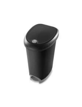 Sterilite Locking Step On Wastebasket, Black, 48 L by Canadian Tire