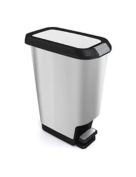 Type A Stainless Steel Slim Step Trash Can, 47 L by Canadian Tire