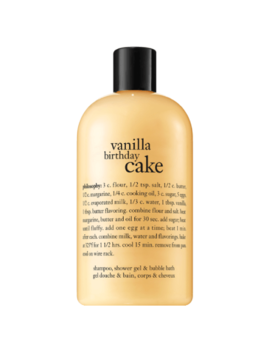 Philosophy Vanilla Birthday Cake Shampoo, Shower Gel & Bubble Bath 480ml by Philosophy