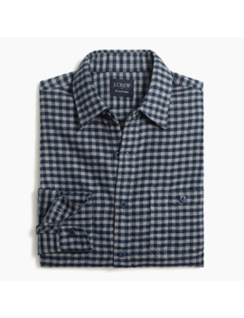Gingham Slim Flannel Shirt by J.Crew