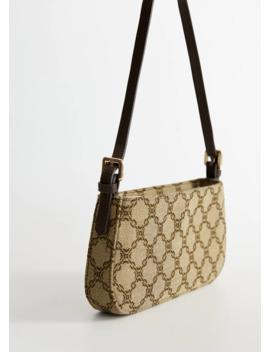 Чанта тип багета с принт by Mango