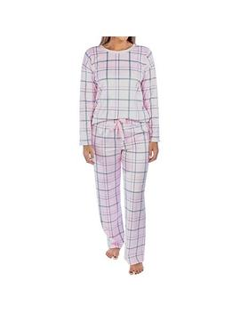 Jaclyn Long Sleeve Velour Pajama Set by Jaclyn