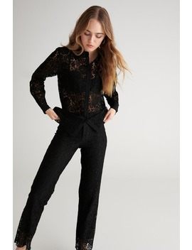 Cecile Lace Shirt by Ginatricot