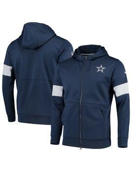 Men's Dallas Cowboys Nike Navy Sideline Performance Full Zip Hoodie by Nfl