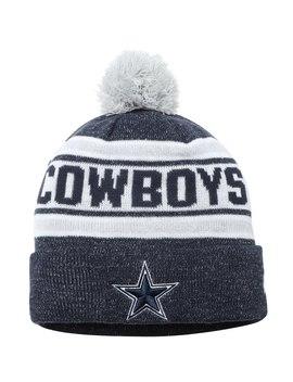 Men's Dallas Cowboys New Era Navy Toasty Cover Cuffed Pom Knit Beanie by Nfl