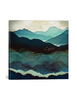 Indigo Mountains By Space Frog Designs Giclée Print Canvas Art by Icanvas