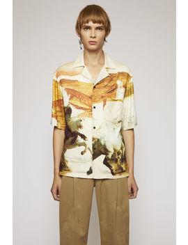 Horse Print Shirt Cream Multi by Acne Studios