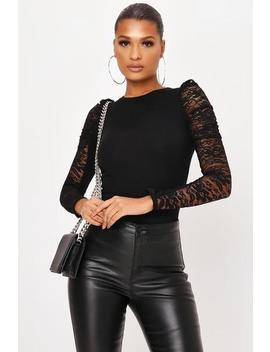 Lace Long Puff Sleeve Top by I Saw It First