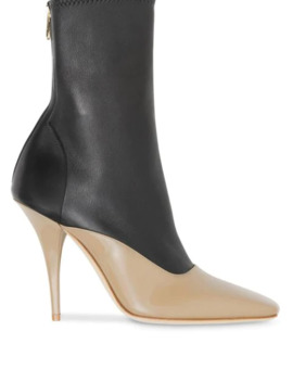 Two Tone Stiletto Boots by Burberry
