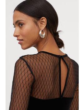 Платье из велюра by H&M