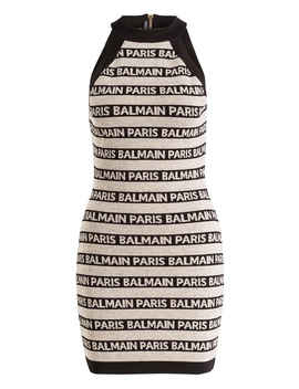 Kleid Mit Leinenanteil Kleid Mit Leinenanteil by Balmainbalmain