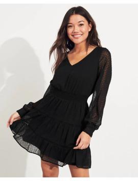 Tiered Chiffon Dress by Hollister