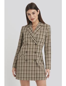 Double Breasted Blazer Dress Brown by Karokauerxnakd