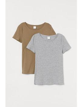 2 хлопковые футболки by H&M