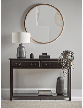 Black Wooden Console Table by Cox & Cox