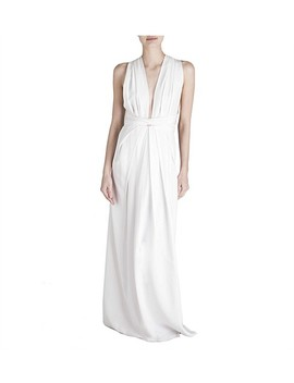 White Silk Cdc Ascendent Gown by Bianca Spender