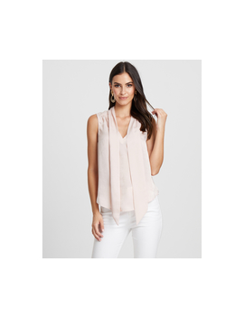 Tussah Women's Amberly Tie Front Blouse   Blush by Tussah