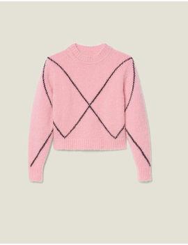 Hairy Jacquard Sweater by Sandro Paris