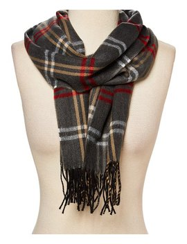 Dark Gray &Amp; Red Buffalo Plaid Scarf   Adult by Softer Than Cashmere®