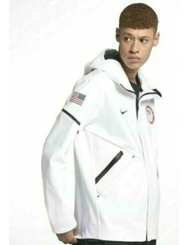 Nike Tech Fleece Team Usa Windrunner Jacket Mens 2 Xl White 909530 100 by Nike