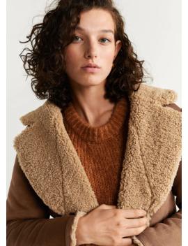 Двусторонняя куртка с искусственной овчиной by Mango