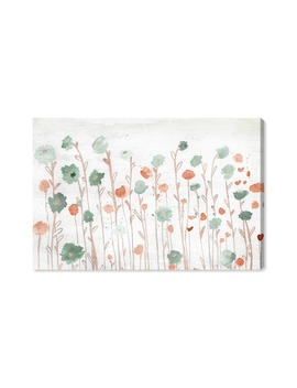 Beautiful Growth Orange Canvas Wall Art by Oliver Gal