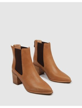 Allure Mid Ankle Boots Chocolate Leather by Jo Mercer