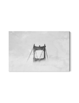Up So High Golden Gate Bridge Canvas Wall Art by Oliver Gal