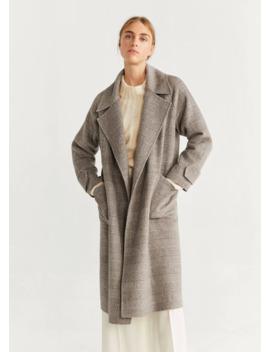 Пальто с лацканами шерсть by Mango