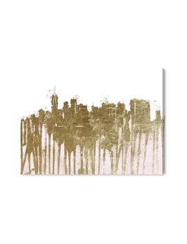 Ny Skyline Gold Ii Canvas Wall Art by Oliver Gal