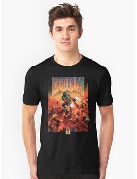 Doom   1993 Poster Pc Fps  Slim Fit T Shirt by Crampedmisfit90