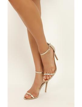 Billini   Timeless Heels In Light Gold Metallic by Showpo Fashion