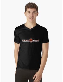 Quake V Neck T Shirt by Grazia Designer