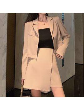 Mave   Set: Cropped Blazer + A Line Mini Skorts by Mave