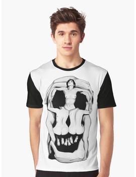Salvador Dalí's Skulls   Black Graphic T Shirt by Rock The Shirt